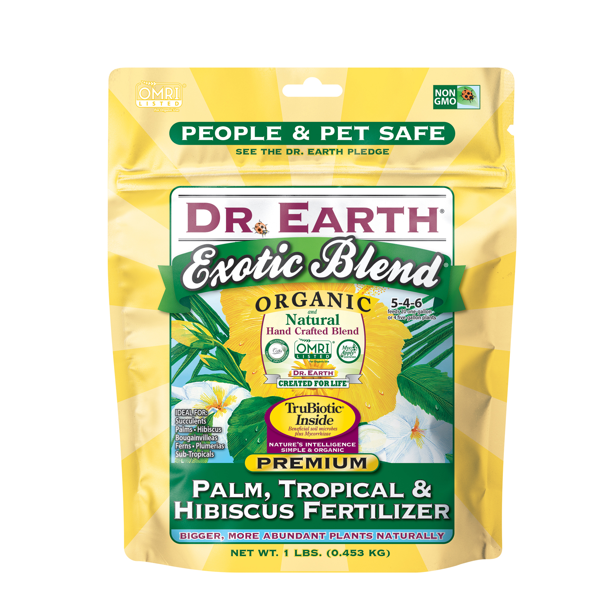 EXOTIC BLEND® PALM, TROPICAL & HIBISCUS FERTILIZER 1lb