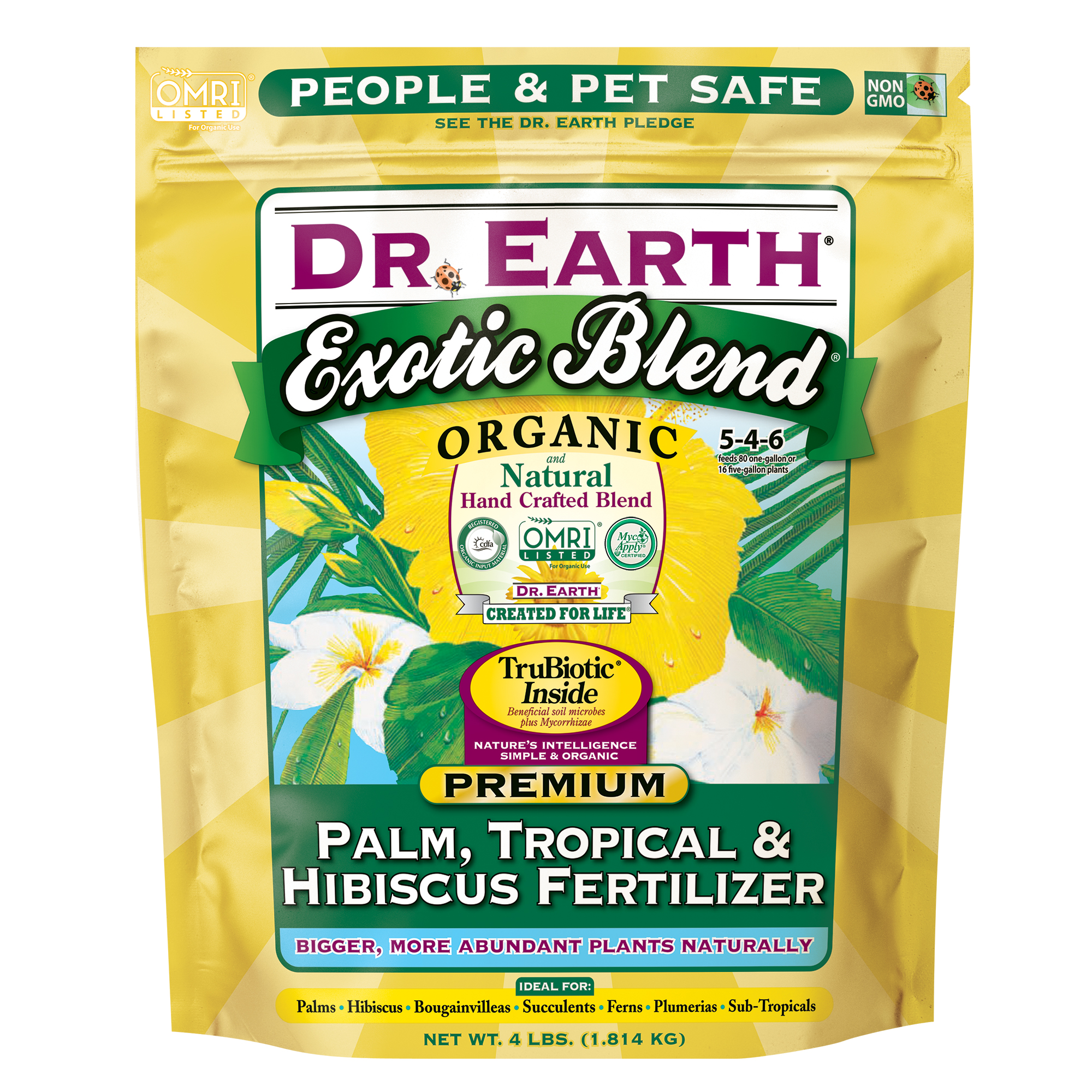 EXOTIC BLEND® PALM, TROPICAL & HIBISCUS FERTILIZER 4lb