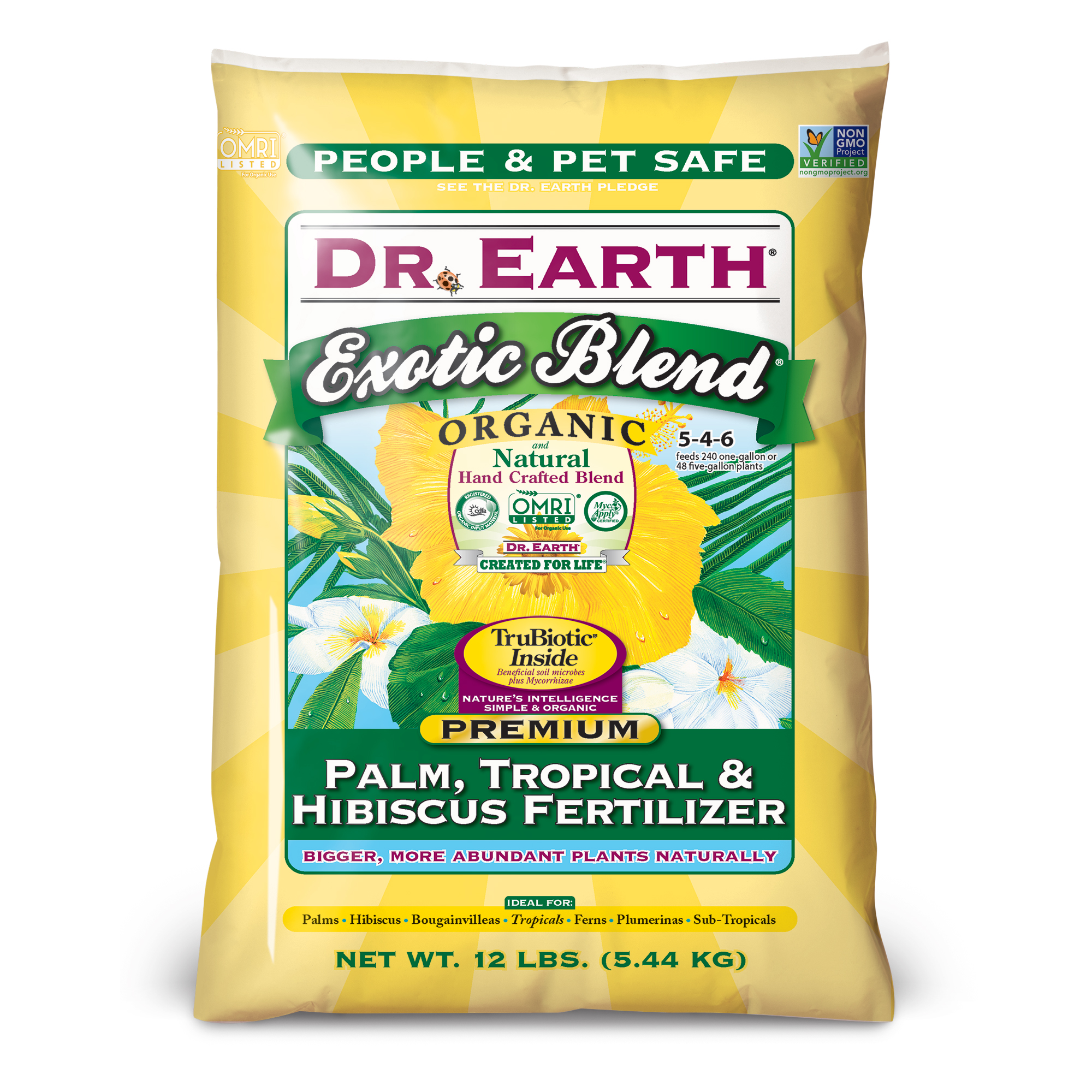 EXOTIC BLEND® PALM, TROPICAL & HIBISCUS FERTILIZER 12lb