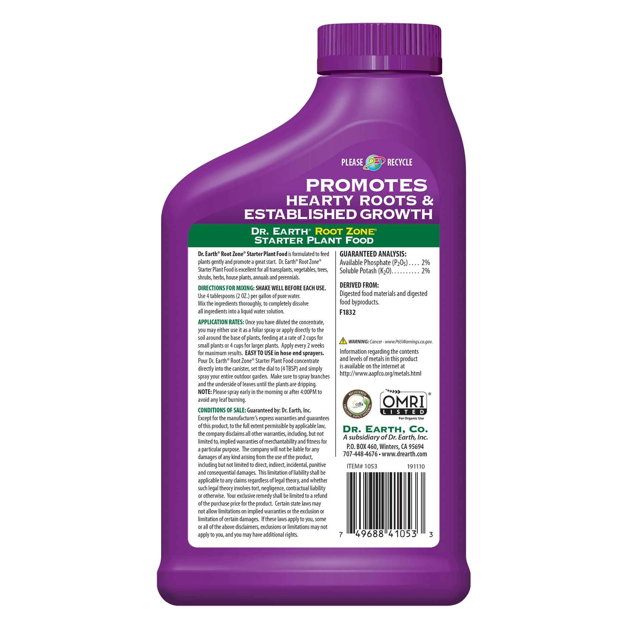 Root Zone Liquid Fertilizer Product Information