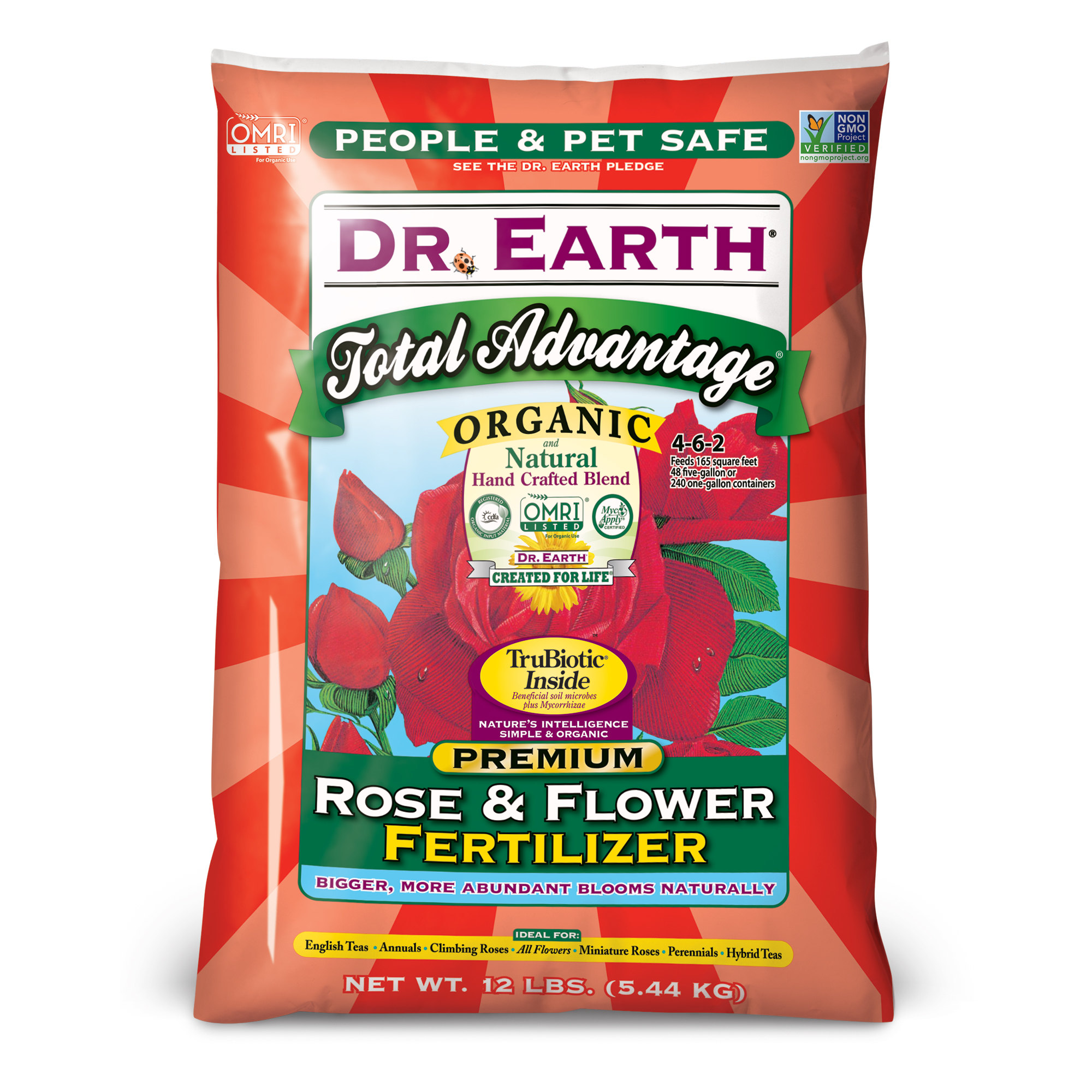 TOTAL ADVANTAGE® ROSE & FLOWER FERTILIZER 12lb