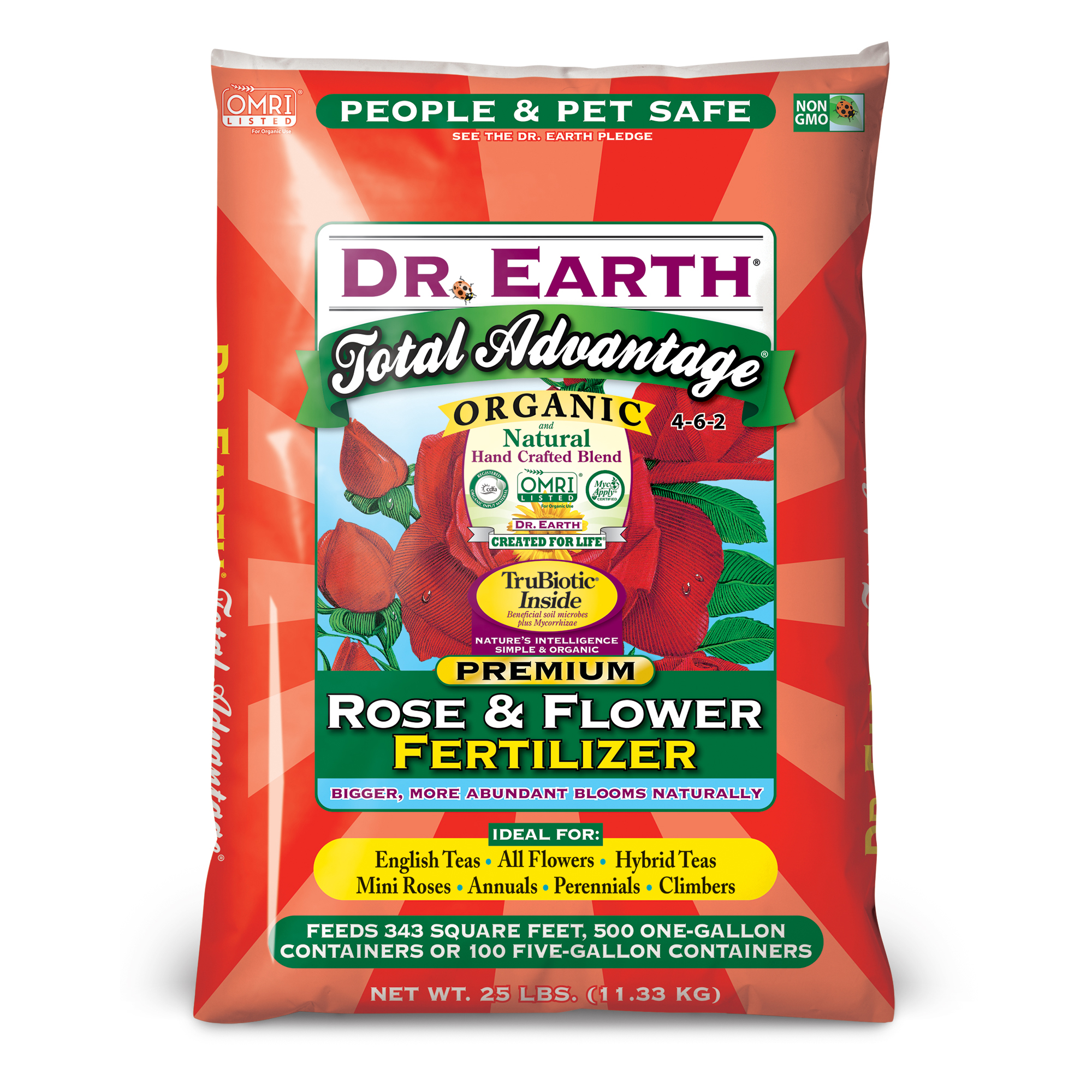 TOTAL ADVANTAGE® ROSE & FLOWER FERTILIZER 25lb