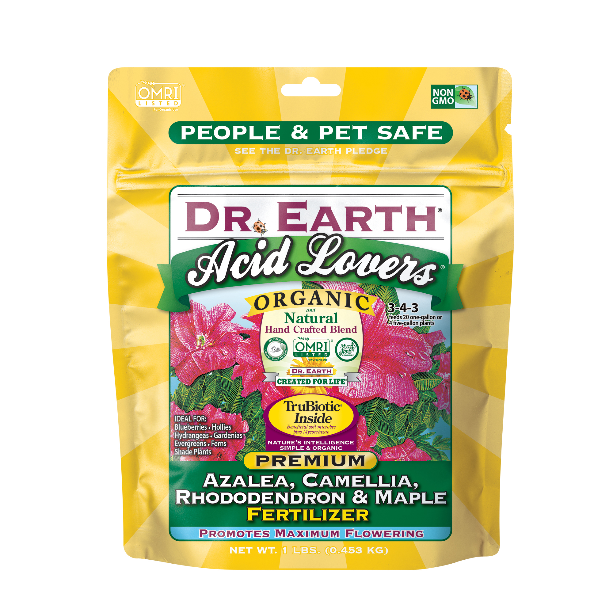 ACID LOVERS® AZALEA, CAMELLIA, RHODODENDRON & MAPLE FERTILIZER 1lb