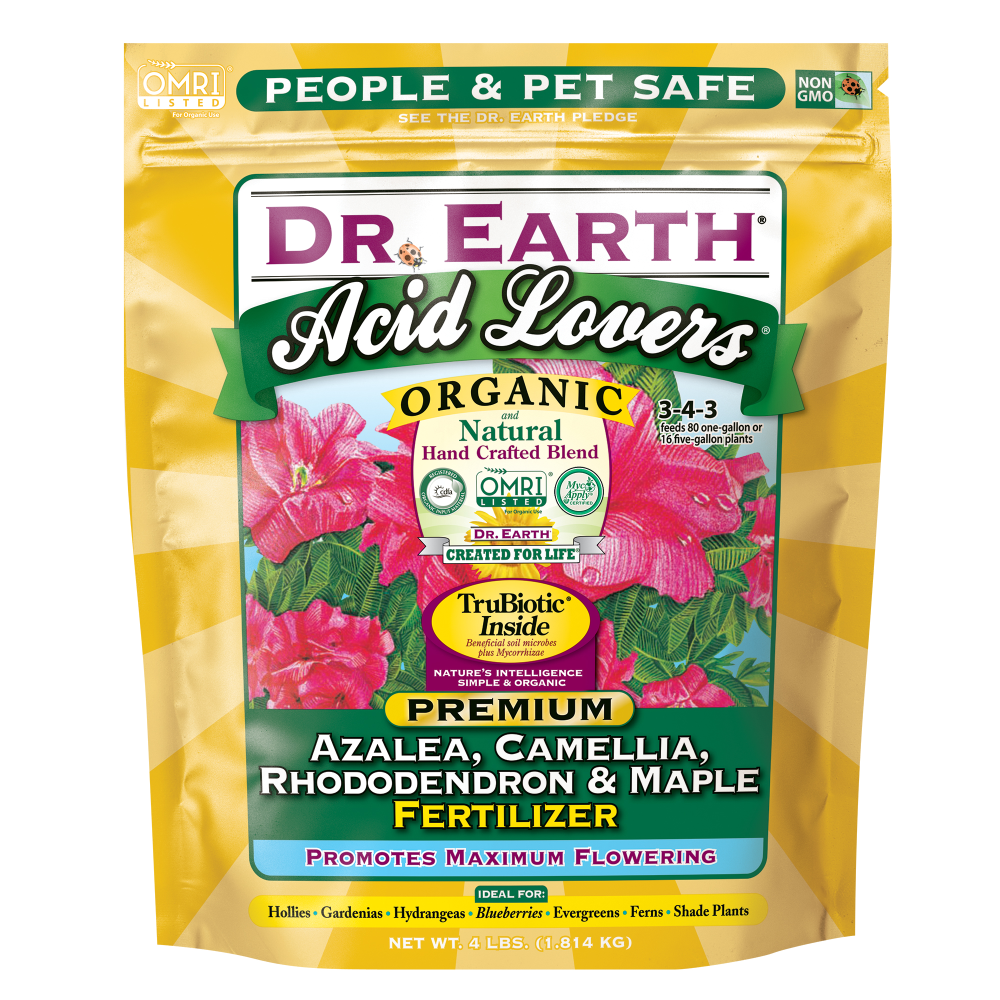 ACID LOVERS® AZALEA, CAMELLIA, RHODODENDRON & MAPLE FERTILIZER 4lb