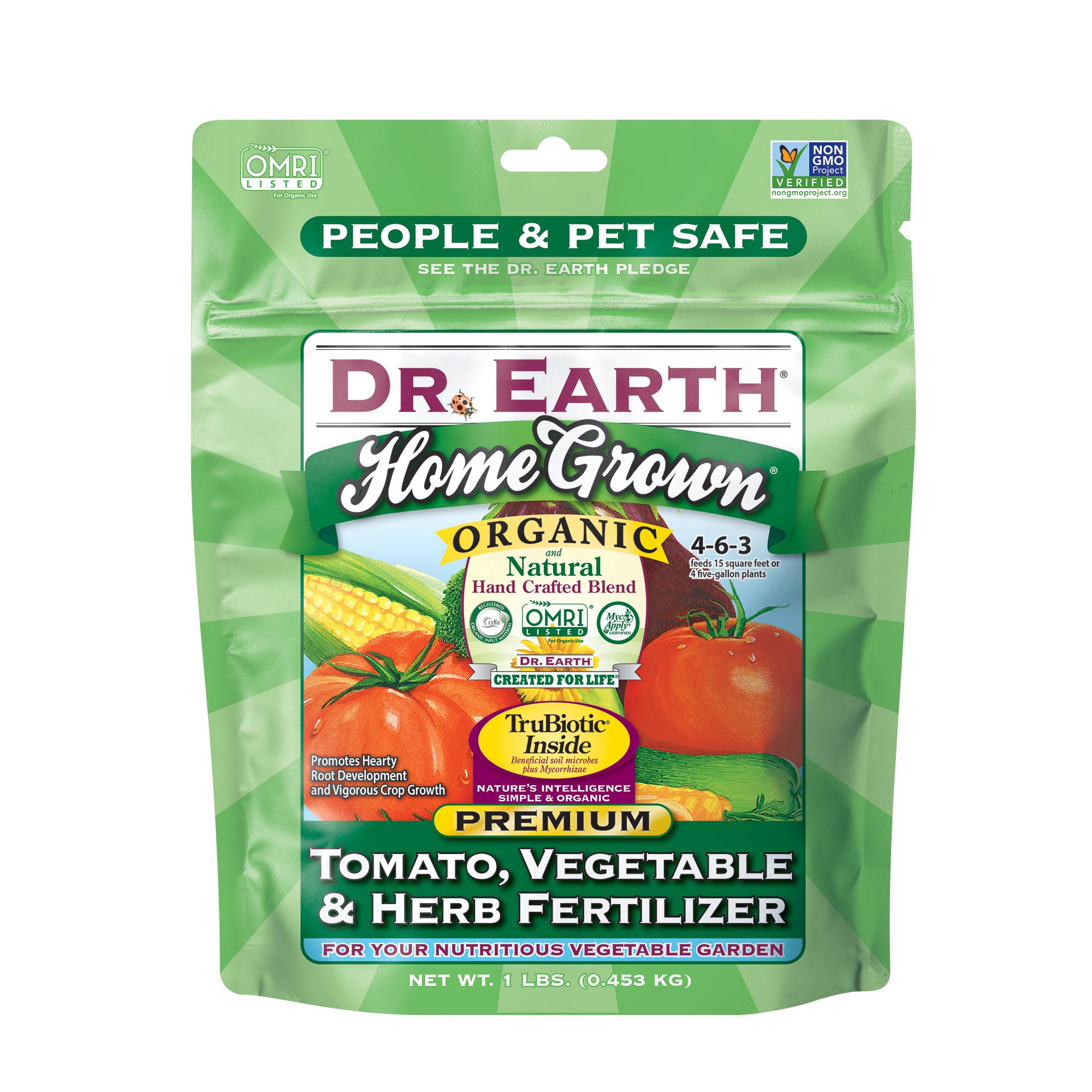 HOME GROWN® TOMATO, VEGETABLE & HERB FERTILIZER 1lb