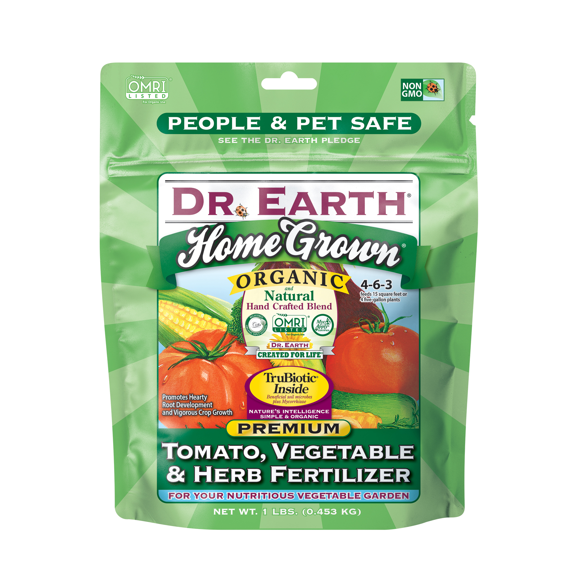 HOME GROWN® TOMATO, VEGETABLE & HERB FERTILIZER 1lb