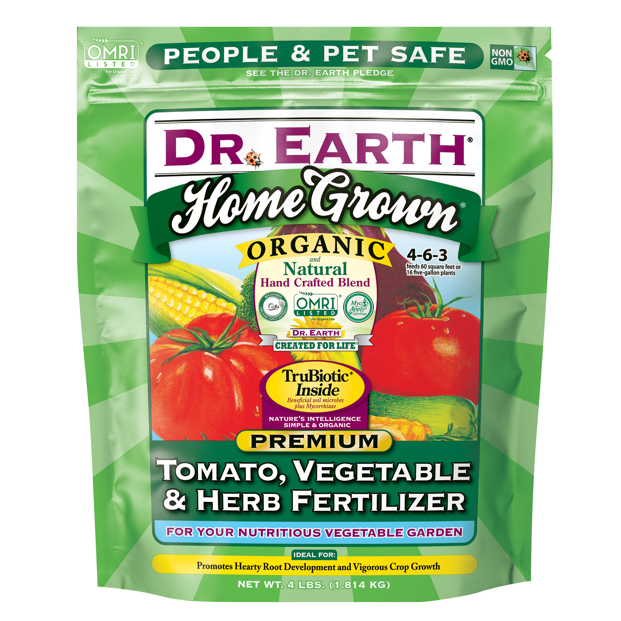 HOME GROWN® TOMATO, VEGETABLE & HERB FERTILIZER 4lb