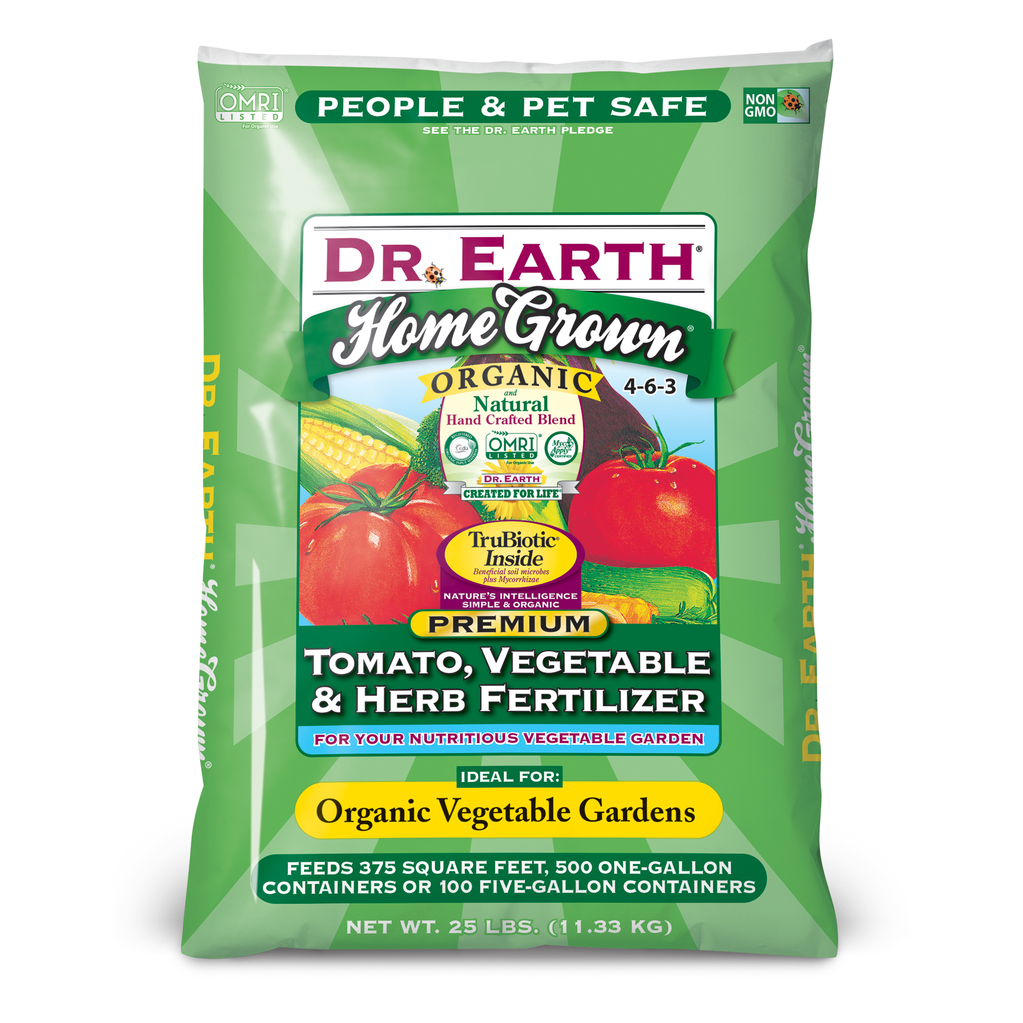 HOME GROWN® TOMATO, VEGETABLE & HERB FERTILIZER 25lb