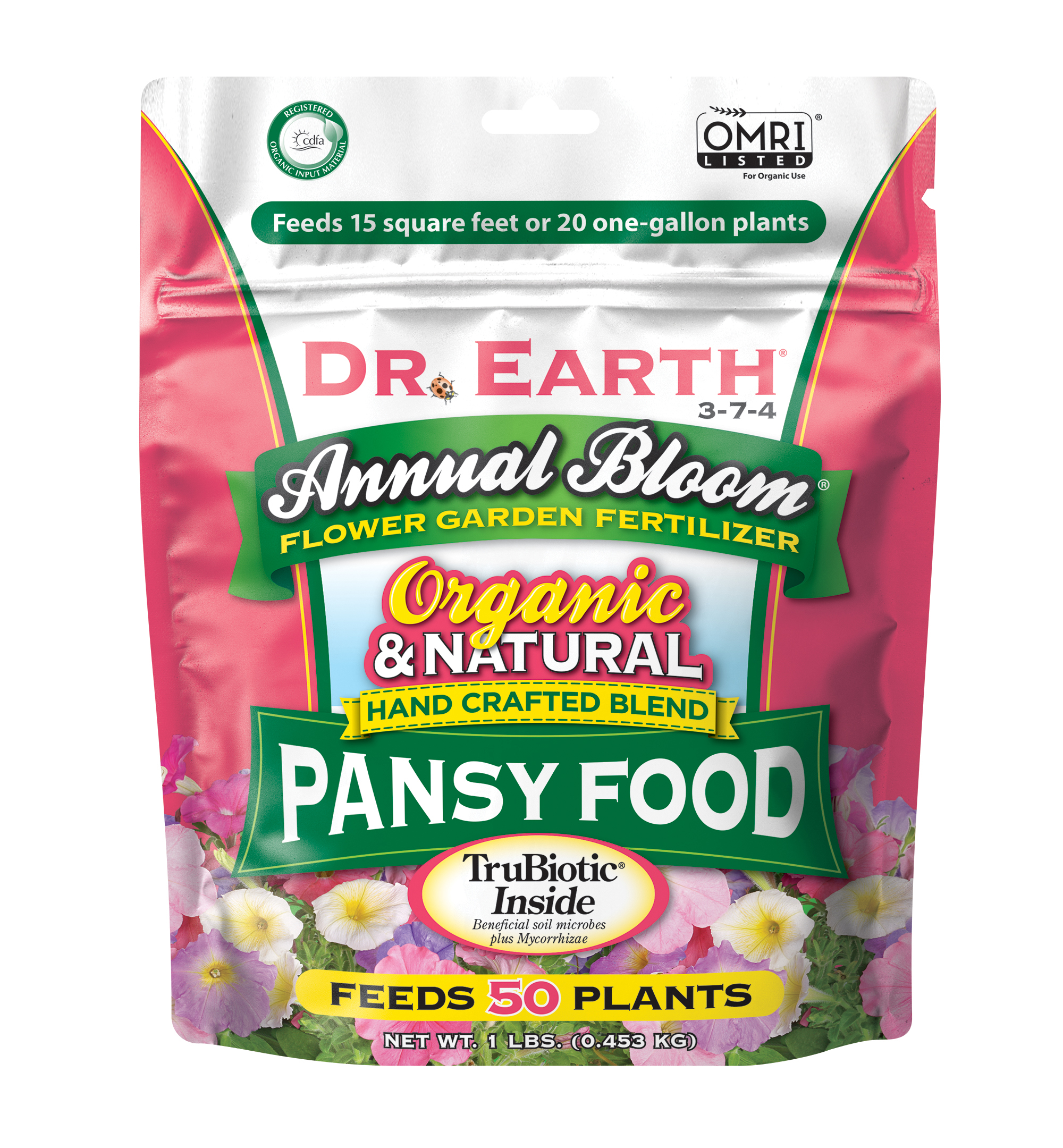 ANNUAL BLOOM FLOWER GARDEN PANSY FERTILIZER 1lb