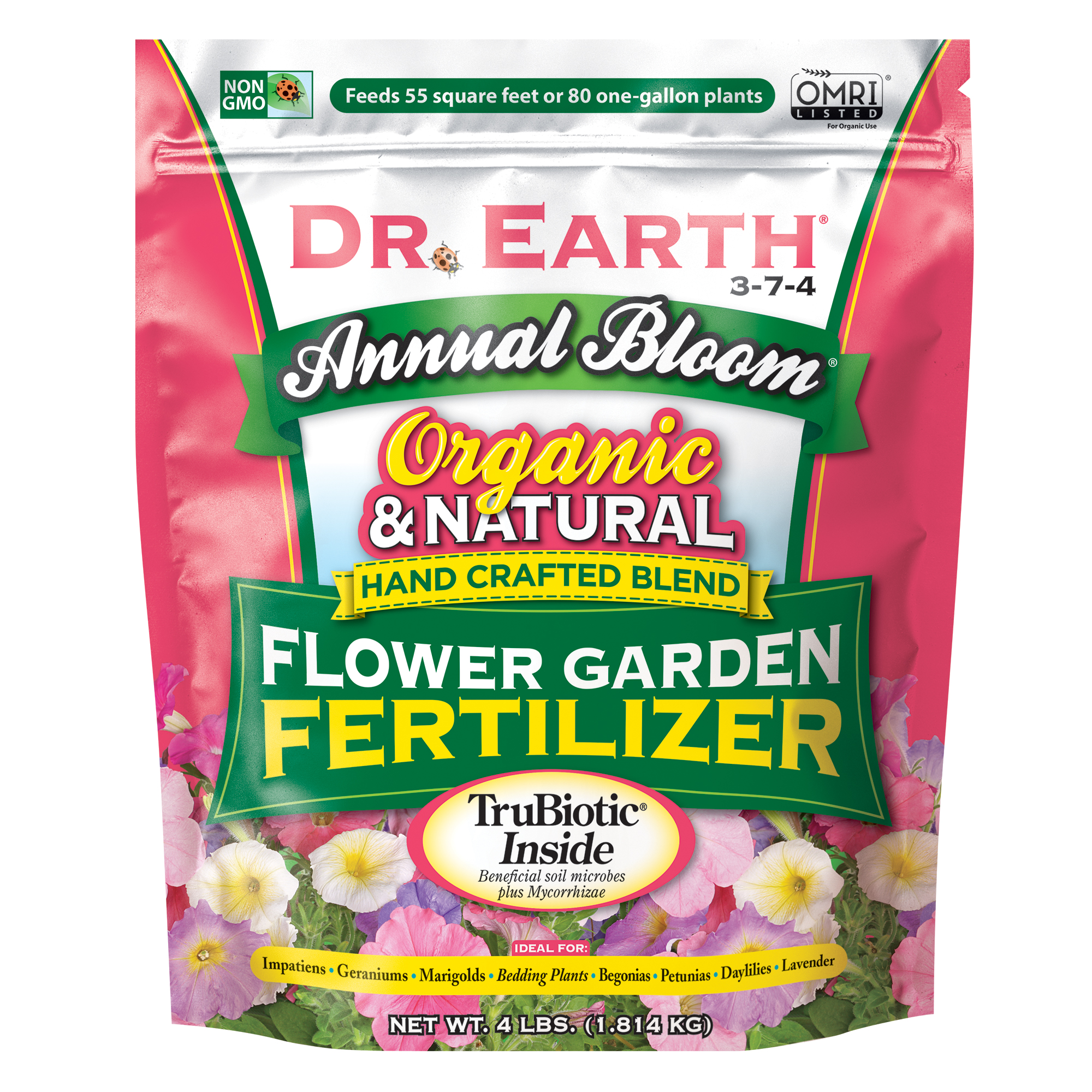 ANNUAL BLOOM FLOWER GARDEN PANSY FERTILIZER 4lb