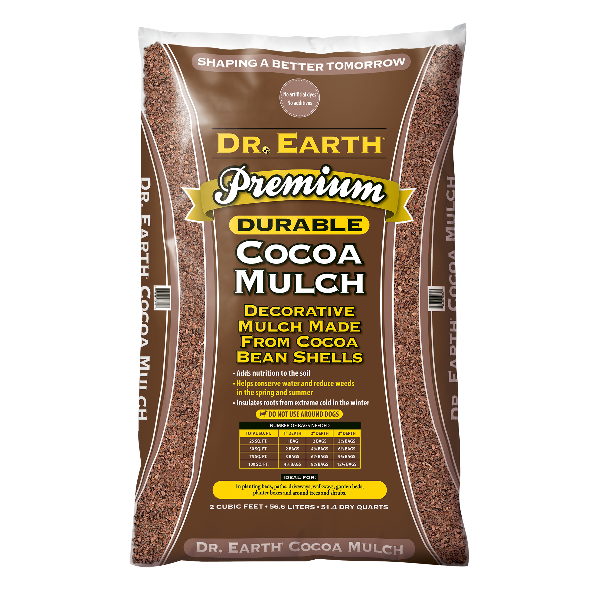 DR. EARTH PREMIUM  COCOA MULCH  DECORATIVE MULCH MADE FROM COCOA BEAN SHELLS