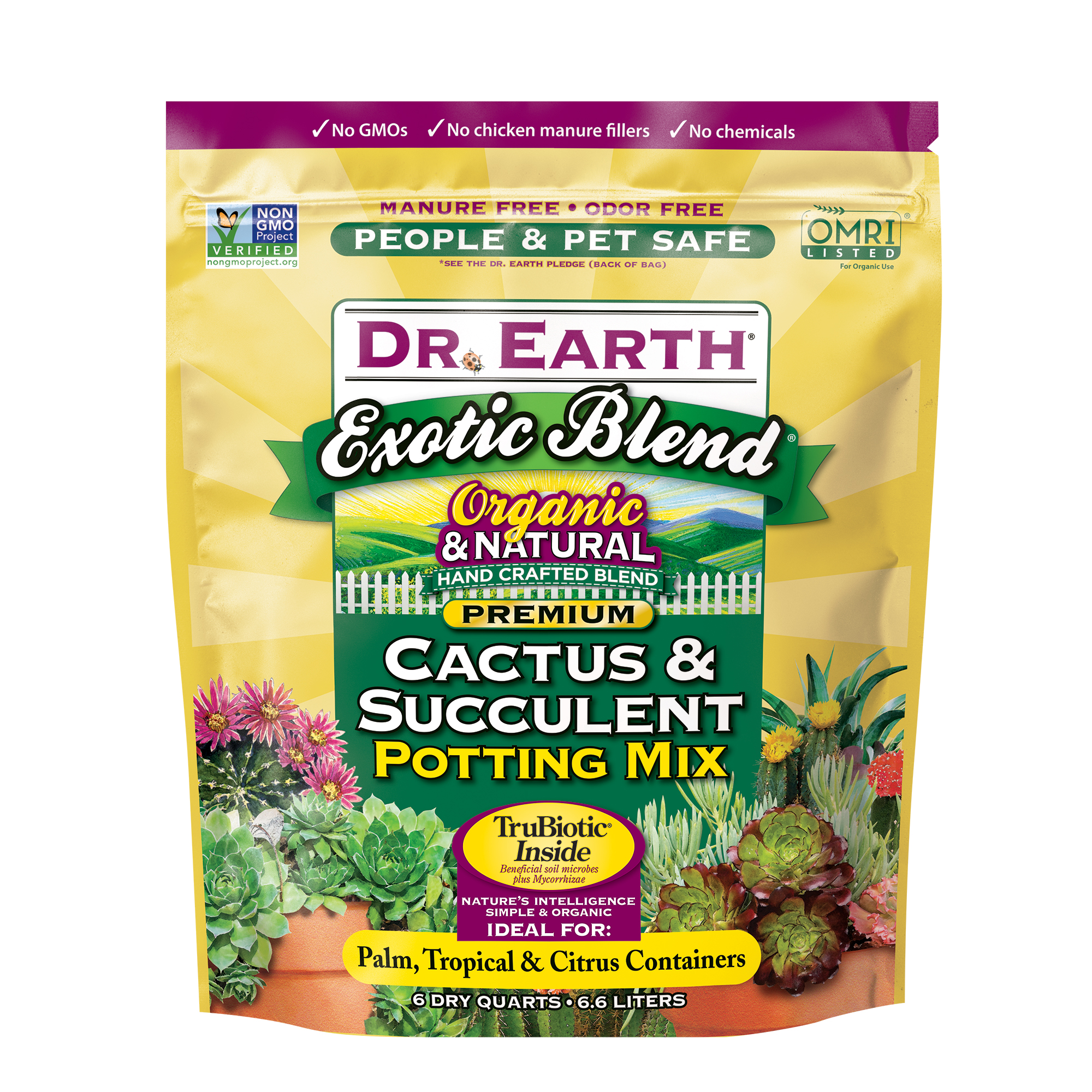 EXOTIC BLEND® CACTUS & SUCCULENT POTTING MIX 6qt