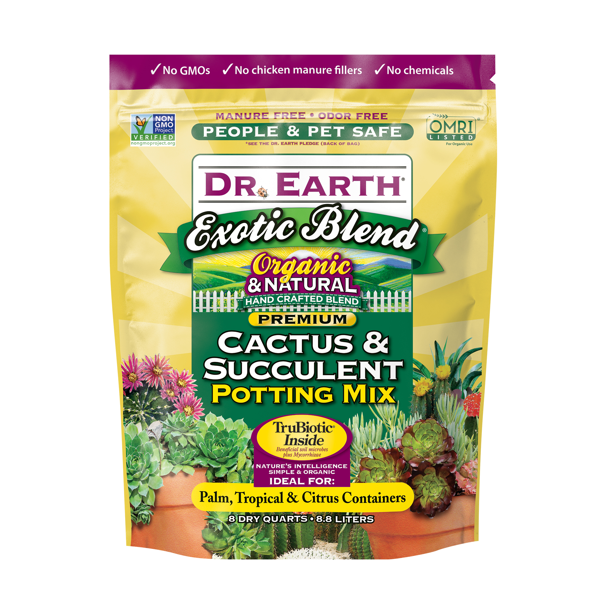 EXOTIC BLEND® CACTUS & SUCCULENT POTTING MIX 8qt