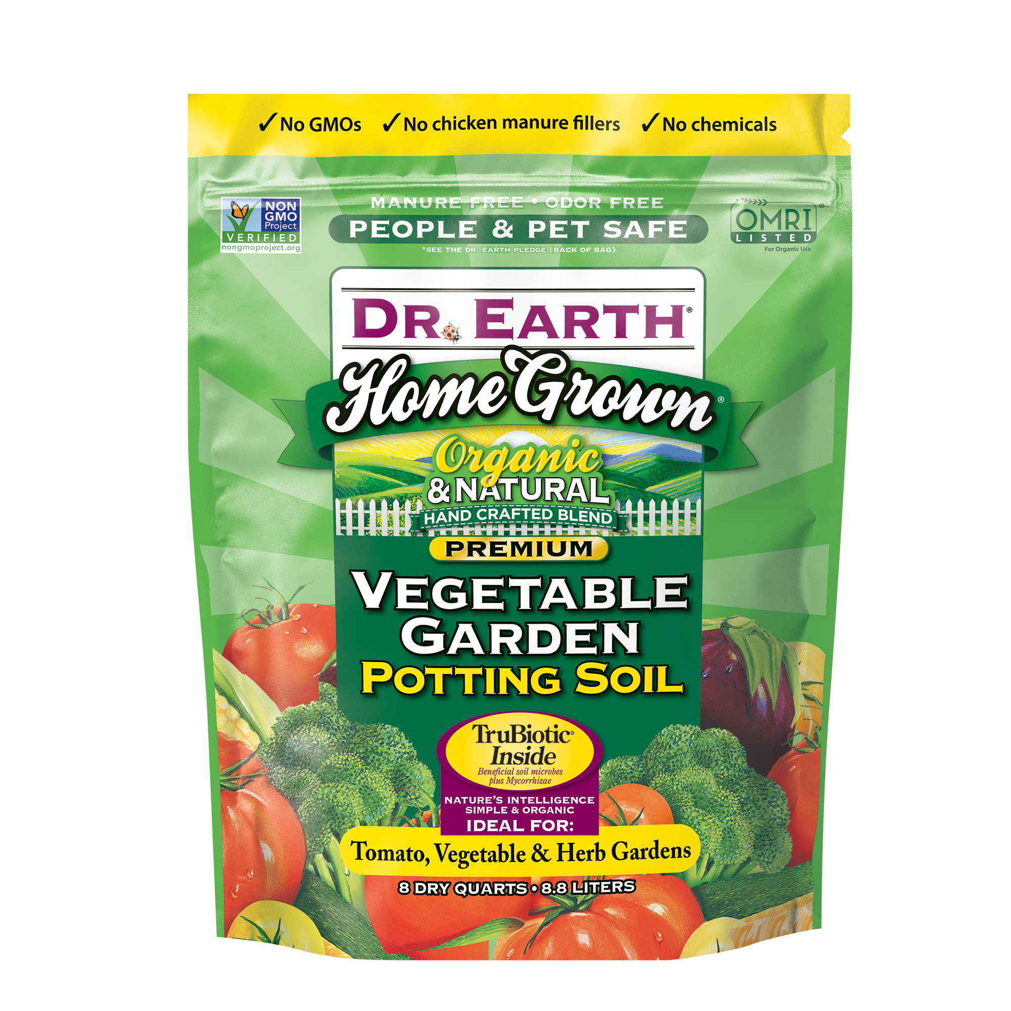 HOME GROWN® VEGETABLE GARDEN POTTING SOIL 8qt
