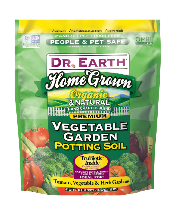 HOME GROWN® VEGETABLE GARDEN POTTING SOIL 4quart