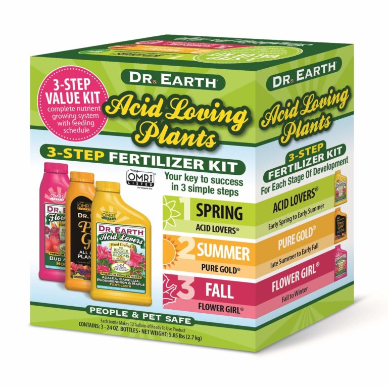 ACID LOVING PLANTS 3-STEP FERTILIZER KIT