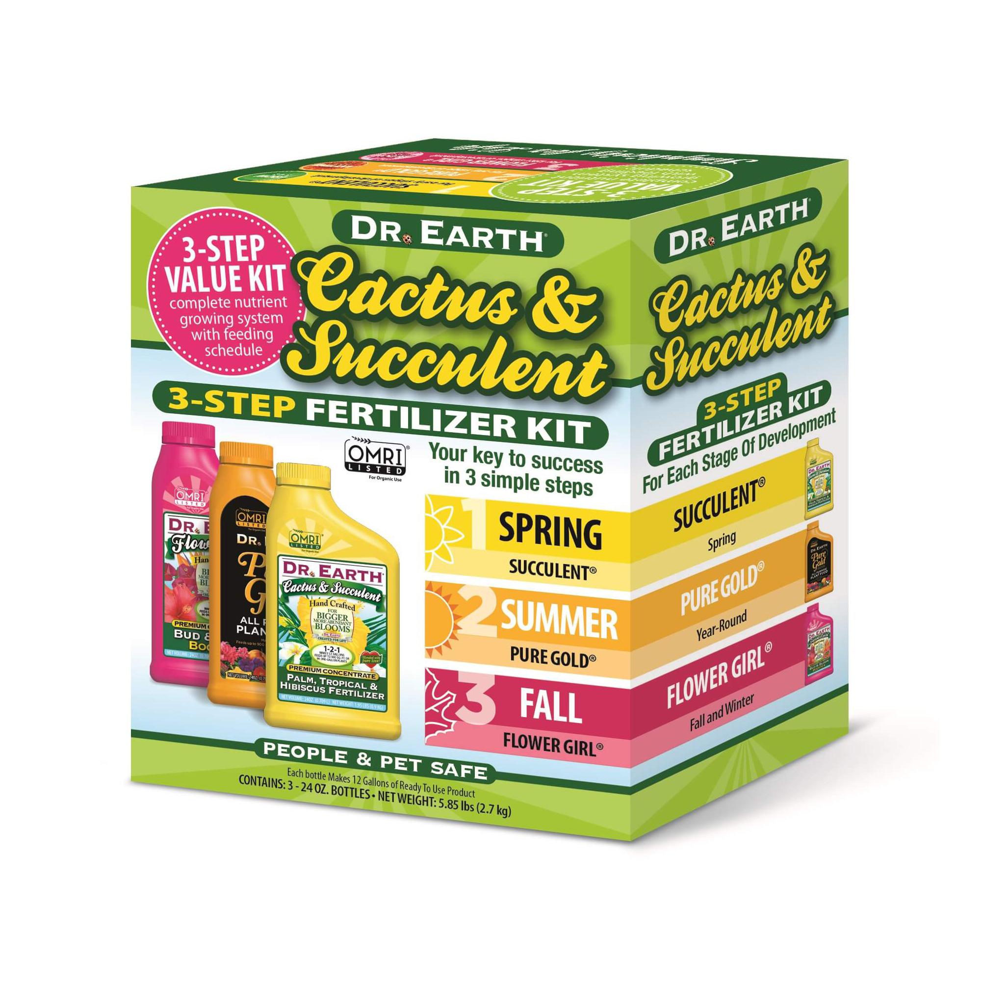 Cactus Succulent 3 Step Fertilizer Kit Dr Earth