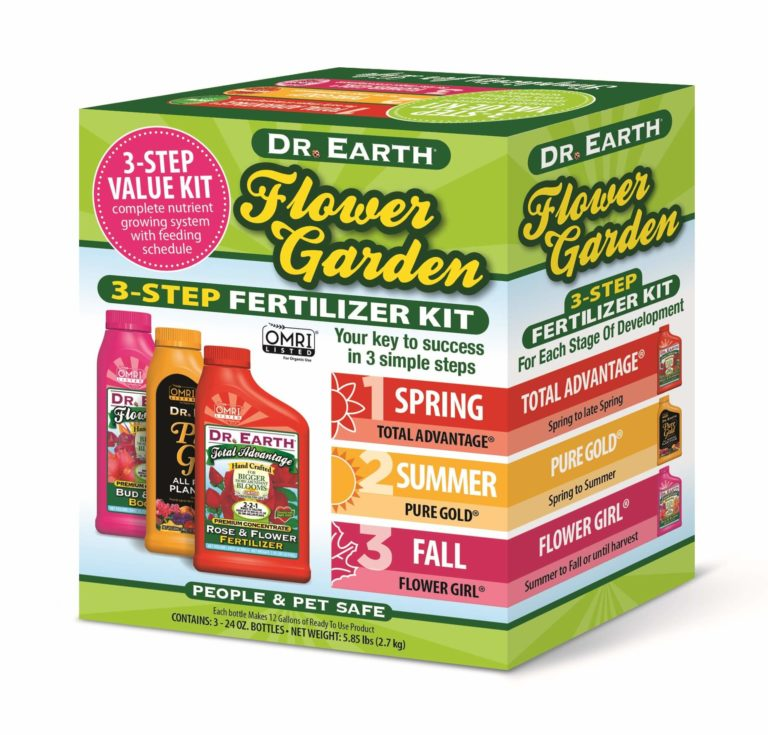 FLOWER GARDEN 3-STEP FERTILIZER KIT