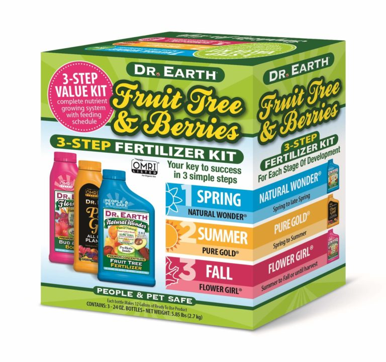 FRUIT TREE & BERRIES 3-STEP FERTILIZER KIT