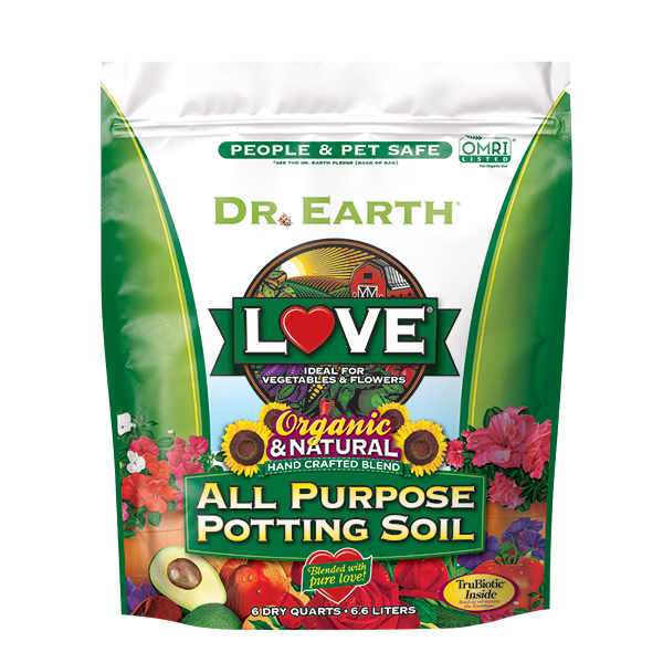 LOVE® ALL PURPOSE POTTING SOIL 6qt