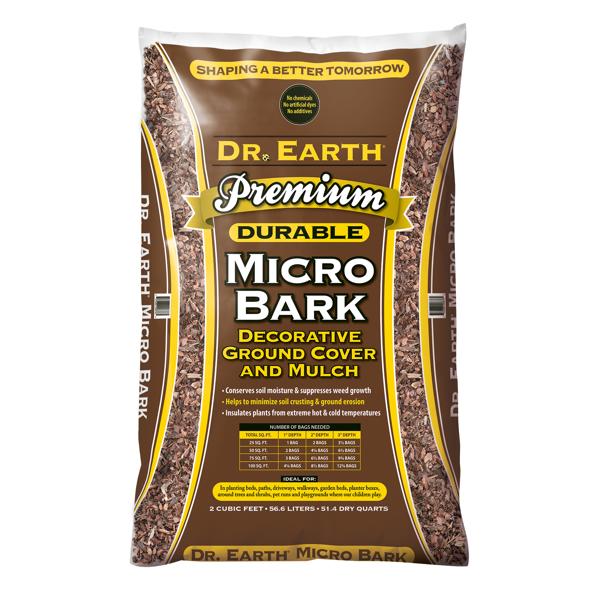 DR. EARTH PREMIUM MICRO BARK  DECORATIVE GROUND COVER AND MULCH