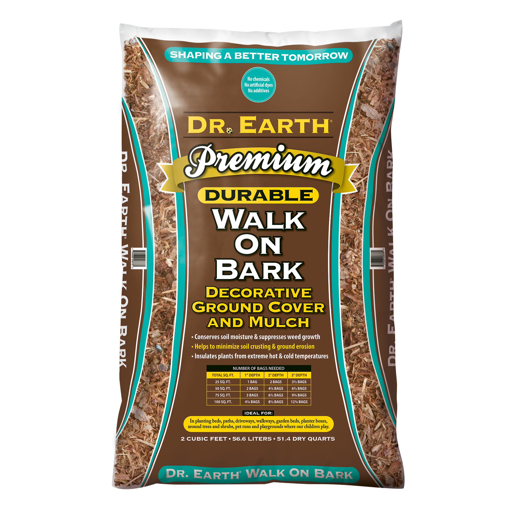 DR. EARTH PREMIUM WALK ON BARK DECORATIVE GROUND COVER AND MULCH