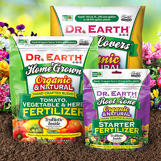 Various organic fertilizer products