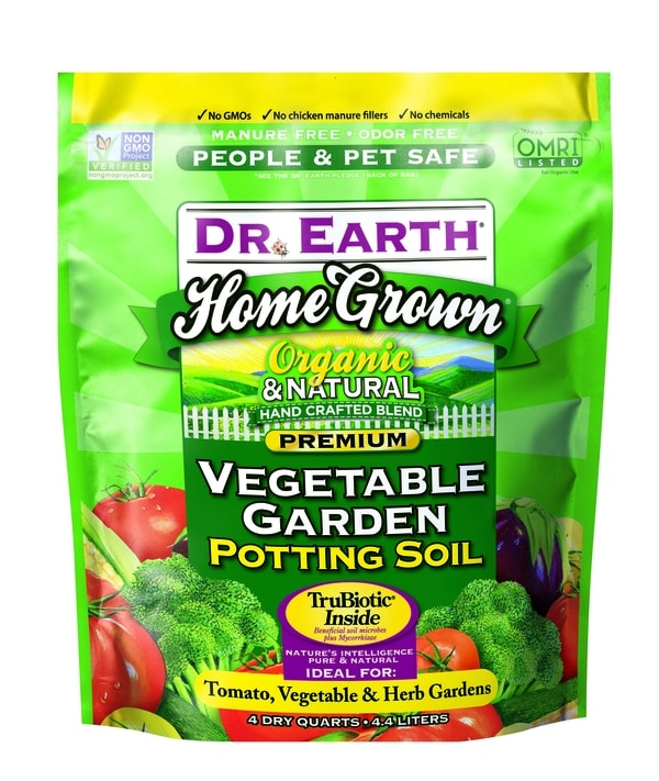 HOME GROWN® VEGETABLE GARDEN POTTING SOIL 4quart