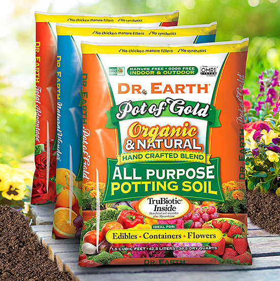 Various natural soil products